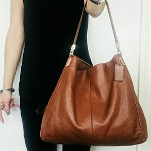 Coach Phoebe Leather Shoulder Bag